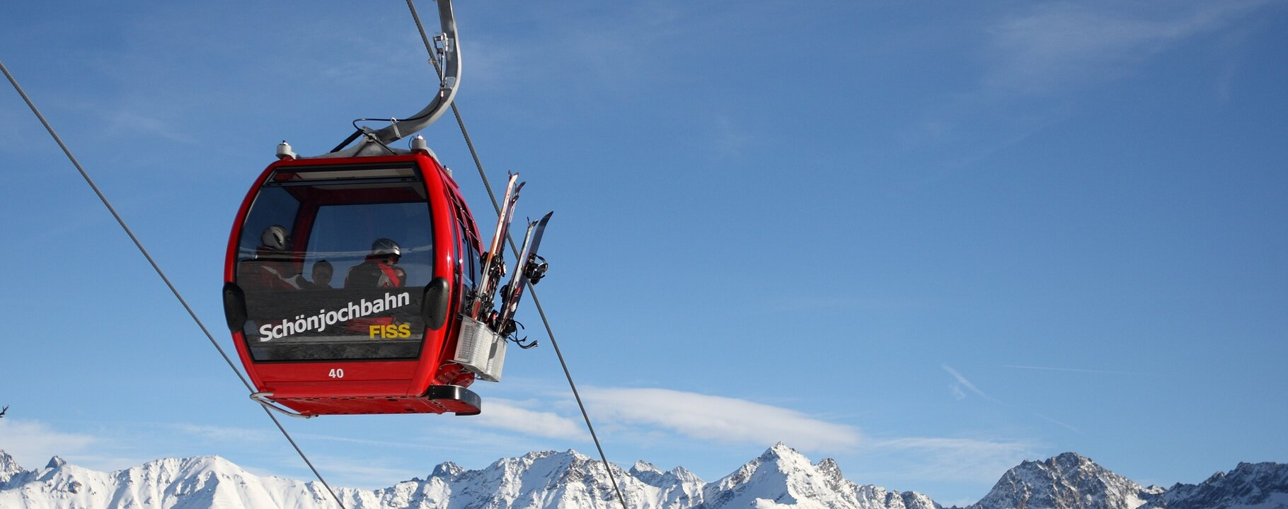 Schönjochbahn cable car Fiss with a magnificent panorama | © Serfaus-Fiss-Ladis/Tirol