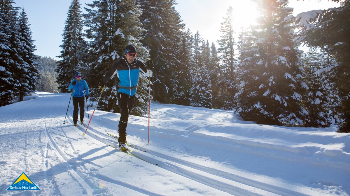 Cross-country skiing on the many cross-country trails in Serfaus-Fiss-Ladis in Tyrol  | © Serfaus-Fiss-Ladis Marketing GmbH | Andreas Kirschner