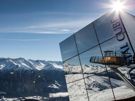 Crystal Cube at the Zwölferkopf summit | © Serfaus-Fiss-Ladis/Tirol