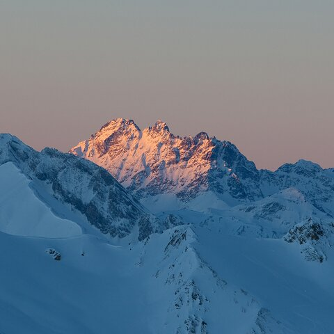 Sunrise Hexensee - sunrise at the Masner | © Serfaus-Fiss-Ladis/Tirol