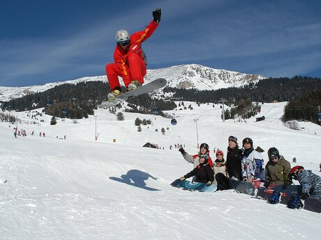 Snowboard lessons at the Boarderclub Fiss | © Serfaus-Fiss-Ladis