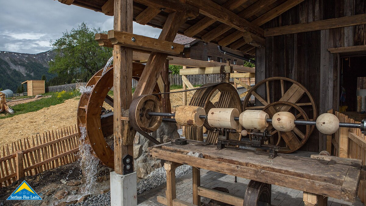 water wheel at the old stable | © Serfaus-Fiss-Ladis/Tirol