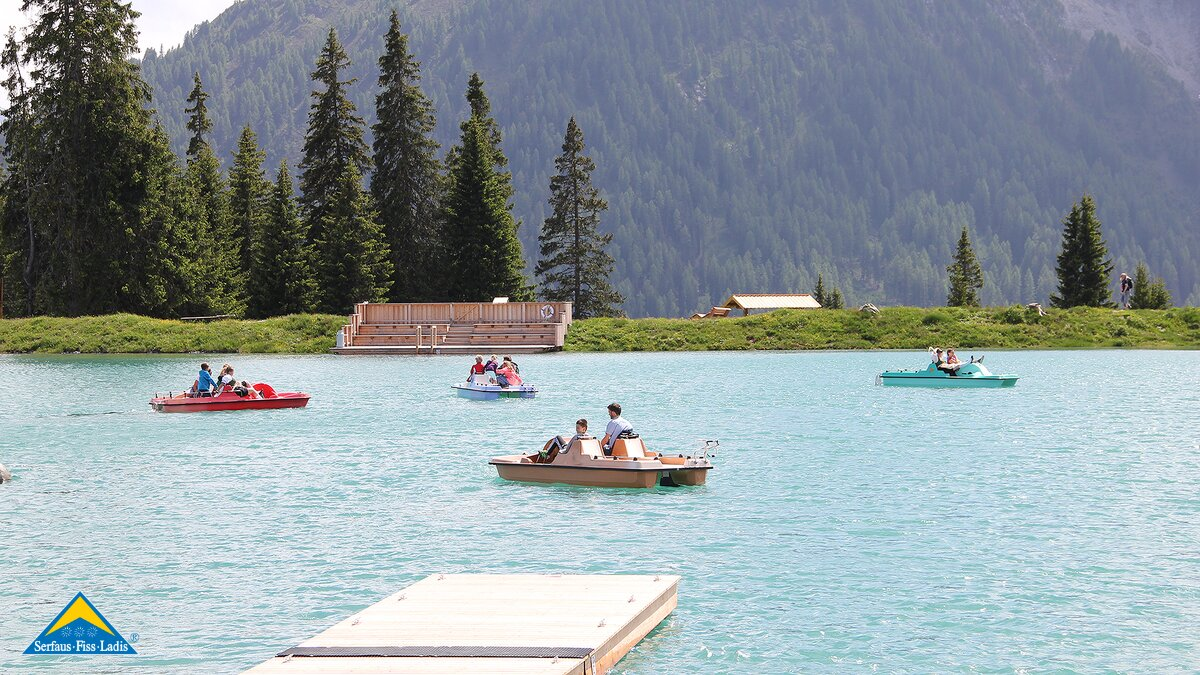 pedal-boats at the Hög reservoir Serfaus | © Serfaus-Fiss-Ladis/Tirol