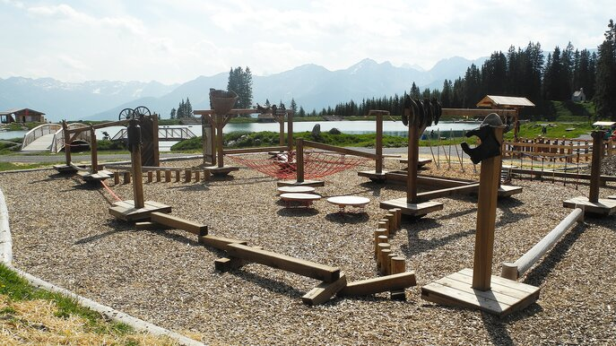 skill parcours at the Hög Adventure Park | © Serfaus-Fiss-Ladis/Tirol
