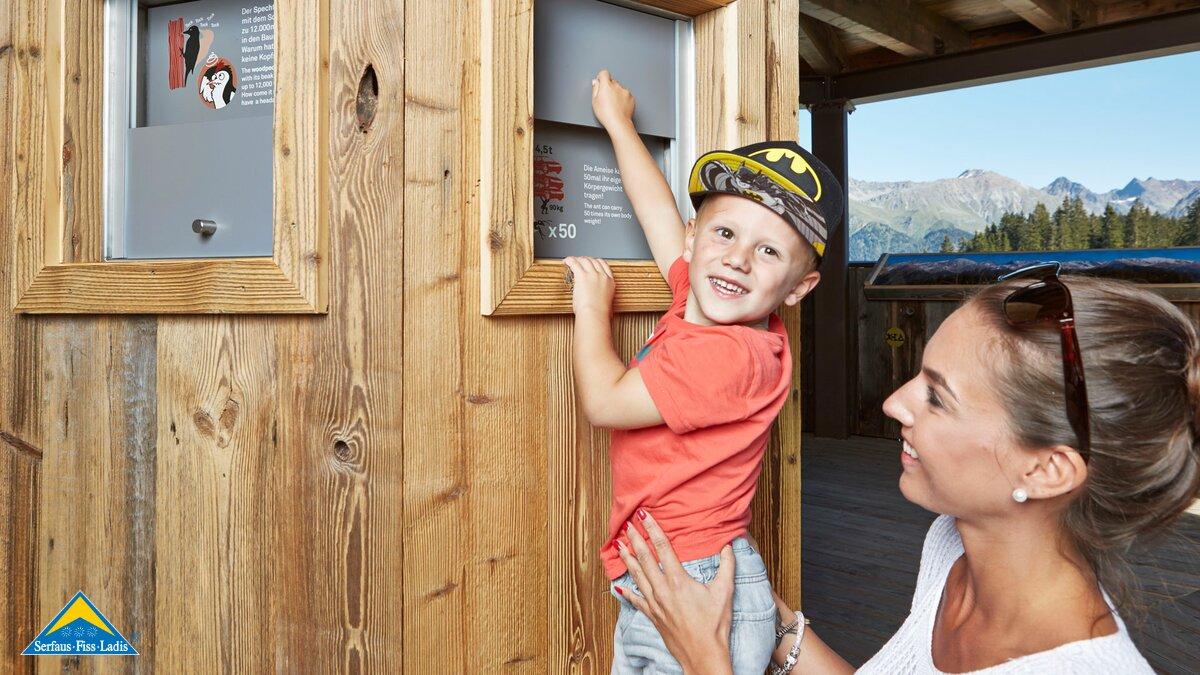 information boards at the Hög Adventure Park in Serfaus | © Serfaus-Fiss-Ladis/Tirol