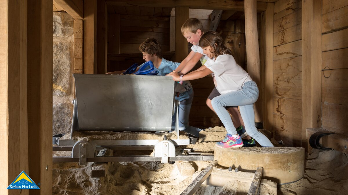 Kids are playing in the children's mine at their holidays in Serfaus-Fiss-Ladis in Tyrol | © Andreas Kirschner