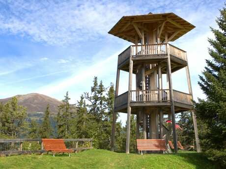 12 m high Wode Tower with open round view on the Kaunertal, Inntal and Fließ | © Serfaus-Fiss-Ladis/Tirol