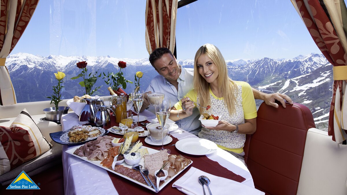 Gourmet Gondola Fiss -  in the mountains of Serfaus-Fiss-Ladis | © Serfaus-Fiss-Ladis/Tirol