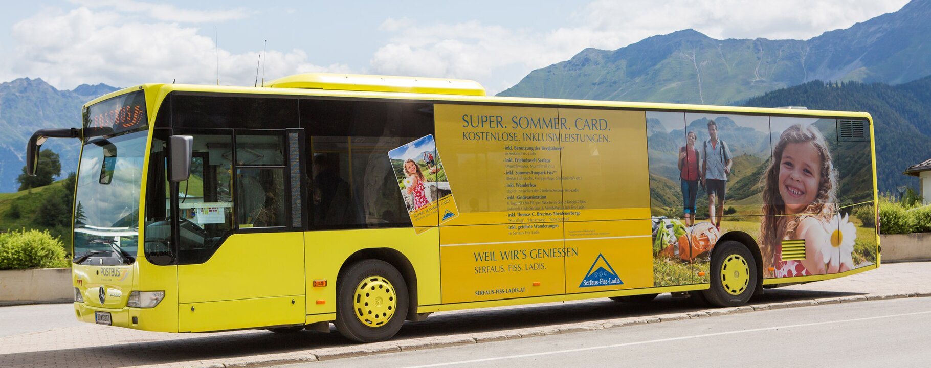 The hiker's bus in Serfaus-Fiss-Ladis in Tyrol | © Andreas Kirschner