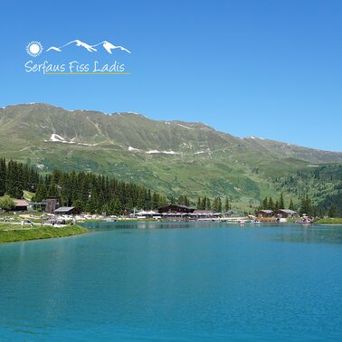 Högsee in summer with water and mountain landscape in Serfaus-Fiss-Ladis, Tyrol, Austria | © Serfaus-Fiss-Ladis Marketing GmbH