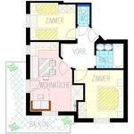 Photo of ap. 2/2 bedrooms/shower or bath tube, WC