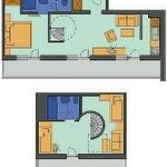 Photo of ap./2 bedrooms/shower or bath tube, WC