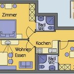Photo of Apartment, shower, toilet, 1 Schlafz. (2 Personen) 2 Schlafz. (ab 3 Personen)