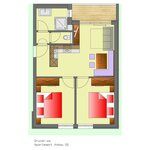 Photo of Apartment, shower, toilet, 2 bed rooms